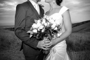 Wedding photo in Black and White