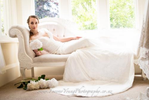 Bride reclining