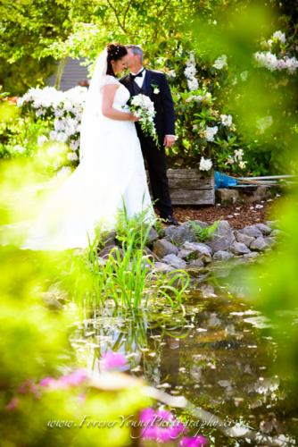 wedding in garden at a nursery