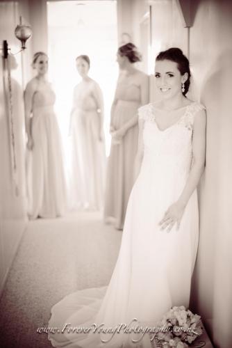 Bride in hallway