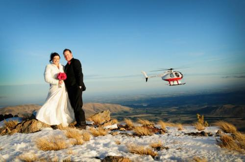 Wedding in Helicopter